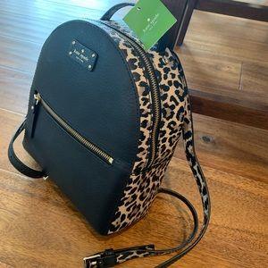Katie Spade Black Backpack Purse